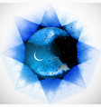 blue space background with stars and crescent moon vector image