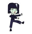 comic cartoon zombie girl vector image vector image