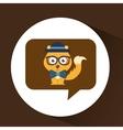cute fox hipster symbol icon design vector image vector image