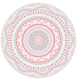 Decorative pink and blue round pattern frame vector image vector image