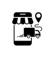 delivery online orders from mobile phone icon vector image