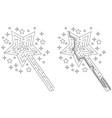 easy magic wand maze vector image vector image