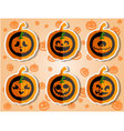 Face pumpkins for Halloween set 5 vector image vector image