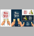 female and male hands holding and clinking vector image vector image