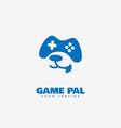 game pal logo vector image vector image