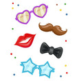 glasses moustache lip vector image vector image