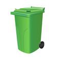 green trash can vector image vector image
