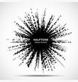 halftone star frame grunge spot halftone circle vector image