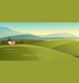 house in countryside meadows vector image vector image
