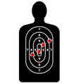 human shape target with bullet holes vector image