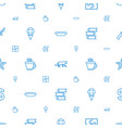 icons pattern seamless white background vector image vector image