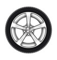 isolated car wheel tyre or tire on white vector image vector image