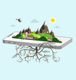 Landscape on cellphone nature symbol