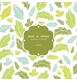 leaves silhouettes frame seamless pattern vector image vector image