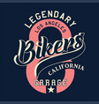 legendary los angeles bikers california vector image vector image