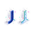 letters j with social networks elements vector image vector image