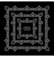 Linear Border for Invitation Card vector image