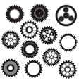 machine gear collection cogwheel set vector image vector image
