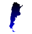 Map of Argentina vector image vector image