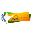 map of india republic day banner design vector image