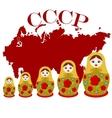 Matryoshka dolls vector image vector image