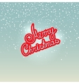 Merry Christmas on Snowfall Background vector image vector image