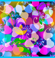 modern glowing paisley seamless pattern floral vector image vector image