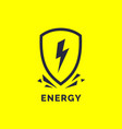 modern minimalistic logo energy the lightning vector image vector image