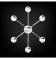 Molecule sign Scribble effect vector image vector image