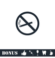 No smoking icon flat vector image