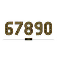 number celtic golden style in a set 67890 vector image vector image