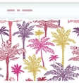 Palm trees seamless horizontal torn pattern vector image