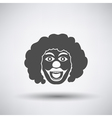 Party Clown Face Icon vector image