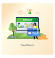 payment with e-money or card vector image vector image