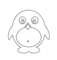 pinguin icon design vector image
