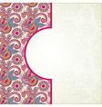 Pink ornamental pattern vector image