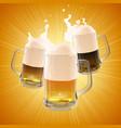 pint beer different varieties vector image vector image