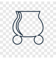 pot concept linear icon isolated on transparent vector image vector image