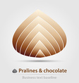 Pralines and chocolate business icon vector image vector image