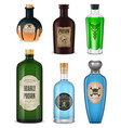 realistic poison icon set vector image