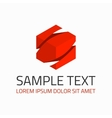 Red abstract logo template vector image vector image