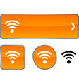 Rss button set vector image vector image