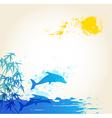 sea blue vector image vector image