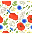 Seamless floral pattern with pretty spring flowers vector image vector image