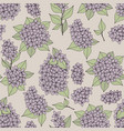 seamless gentle pattern with lilac branches vector image vector image