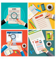 set of job interview concept vector image