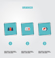set of marketing icons flat style symbols with ads vector image vector image