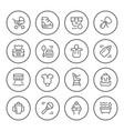 set round line icons newborn vector image vector image