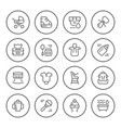 set round line icons of newborn vector image vector image