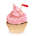 Singapore Cupcake vector image vector image